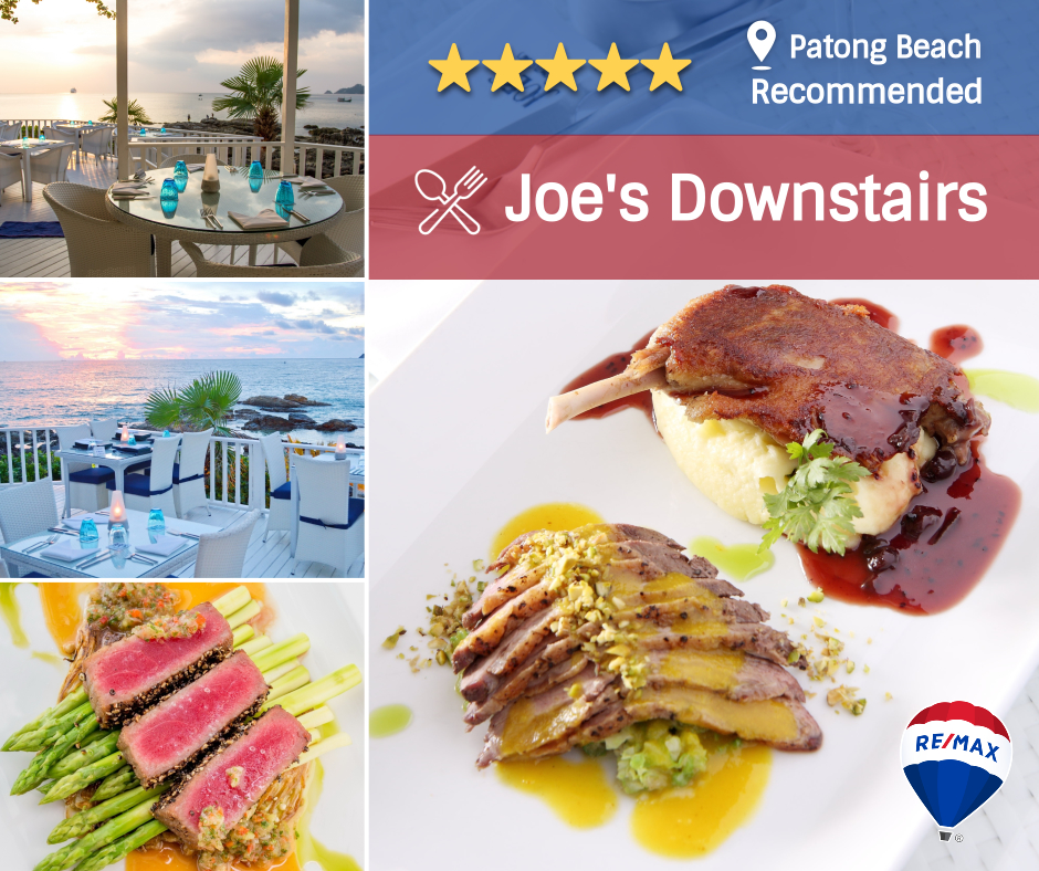 Remax recommended restaurant - Joe's Downstairs - Patong Restaurant, Phuket, Thailand